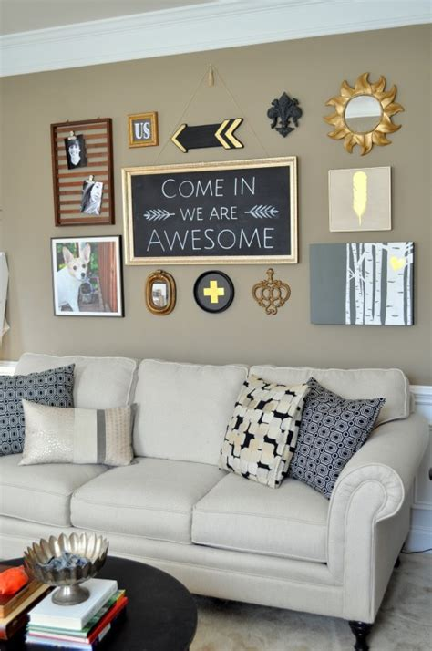 diy living room makeover diy black gold gallery wall