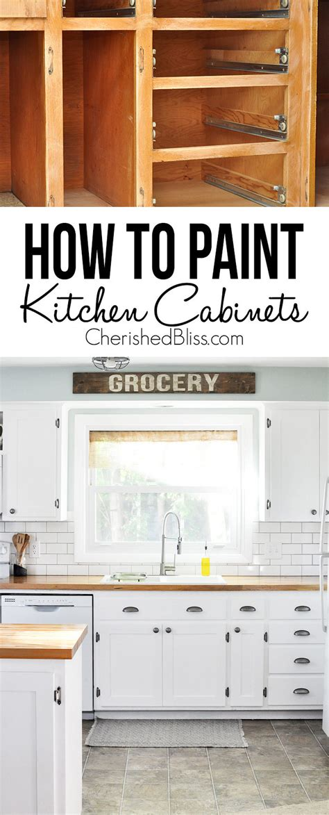 How To Paint Cheap Kitchen Cabinets | kitchen hack diy shaker style cabinets cherished bliss