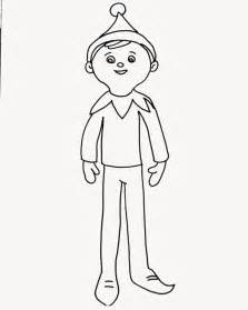 Elf On The Shelf Coloring Page For Elfie And Kids To Colour In  sketch template