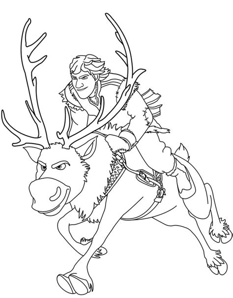 sven reindeer coloring page sven reindeer coloring pages sven frozen coloring book
