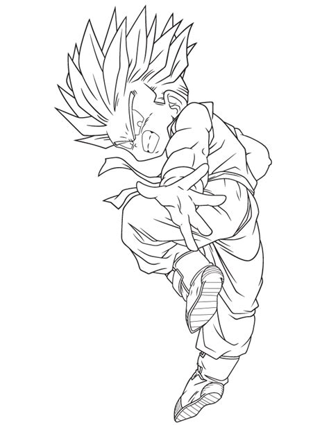 dragon ball z coloring pages super saiyan dragon ball super saiyan coloring page h m coloring pages