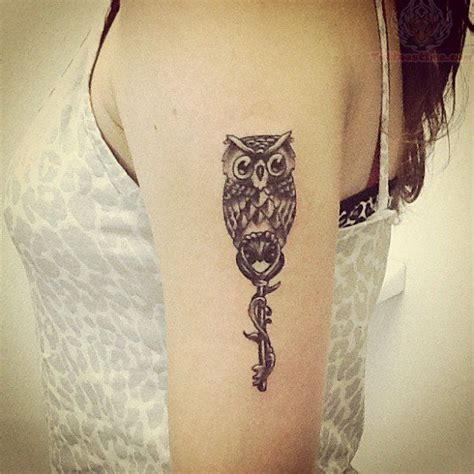owl tattoo with key meaning owl skeleton key tattoo pinterest is beautiful