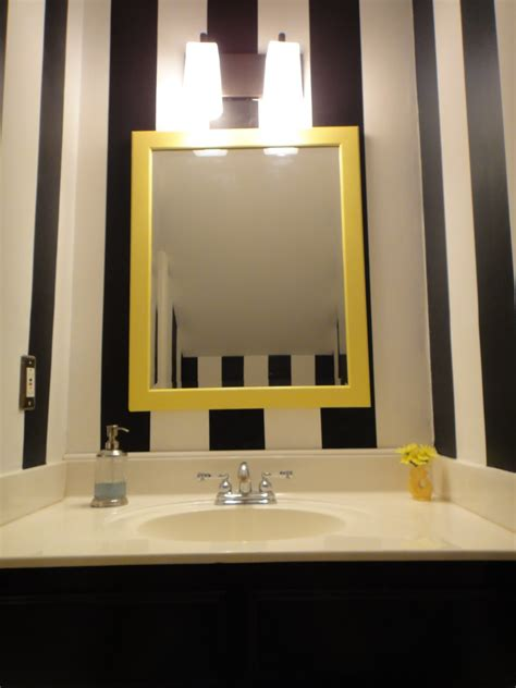 white framed bathroom mirror ideas decor ideasdecor ideas black and white wall paint mirror with yellow wooden frame