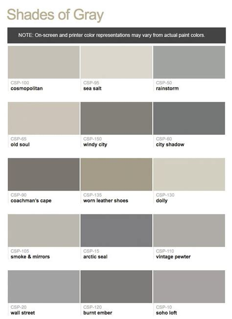 shades of gray color paints from hirshfield s benjamin color stories