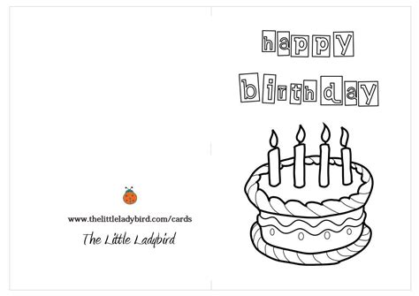 color in birthday card template free greeting cards coloring pages thelittleladybird