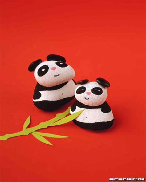 panda garden rock 14 panda craft ideas for to make