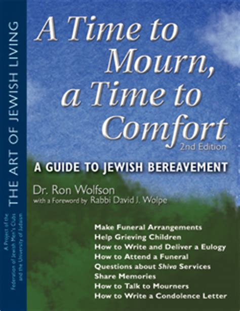 Comfort To Those Who Mourn by A Time To Mourn A Time To Comfort 2nd Ed A Guide To