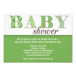 gender neutral baby shower invitation 5 quot x 7 quot invitation card zazzle