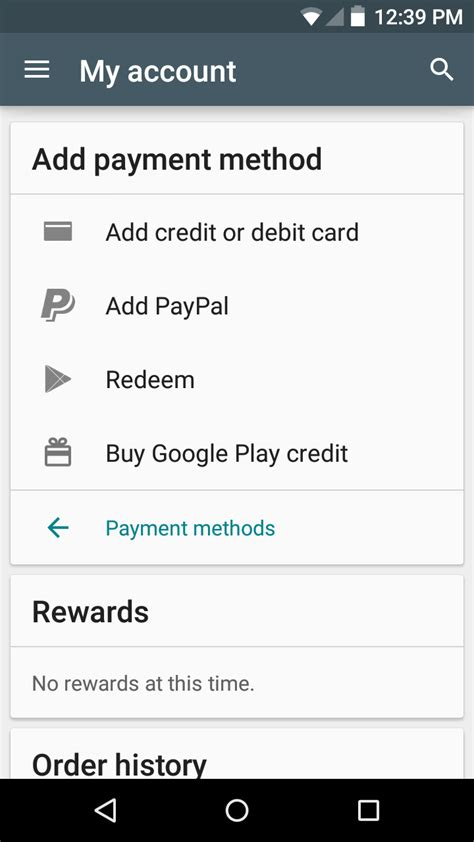 Play Store Payment How To Set Up Payment Methods In The Play Store