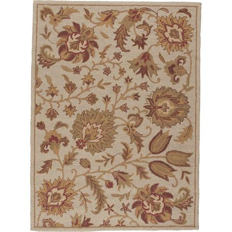 home depot wool area rugs nourison crochet ivory 5 ft x 7 ft wool area rug 122865 the home depot