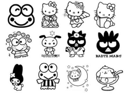 coloring pictures of hello kitty and her friends friends coloring pages coloring pages
