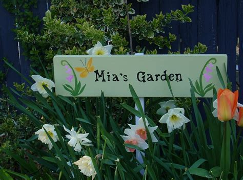 personalized garden sign with stake garden decor custom made