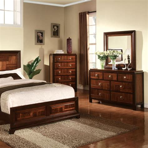 dark cherry bedroom furniture dreamfurniture com cleveland dark cherry finish bedroom set