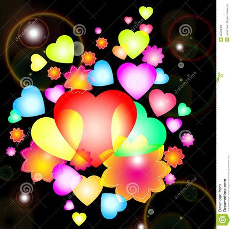 imagenes de corazones brillantes y con movimiento fondo con los corazones y las flores brillantes imagenes