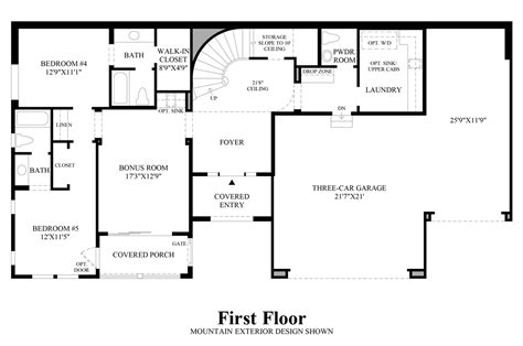 nv homes floor plans boulders at somersett the ranier nv home design