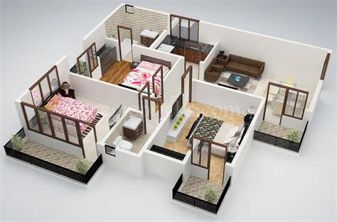 3 bedroom small house 25 three bedroom house apartment floor plans