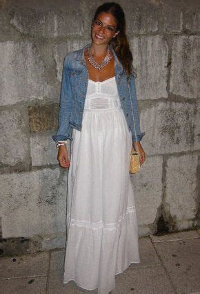 9809 Maxi Denim white maxi dress i one just like this my style
