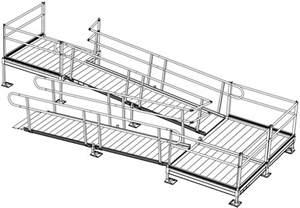 Portable Handrail System Home Access Modular Ramps Rampsplus