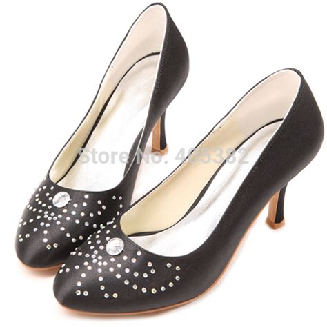 popular black evening shoes with rhinestones buy cheap