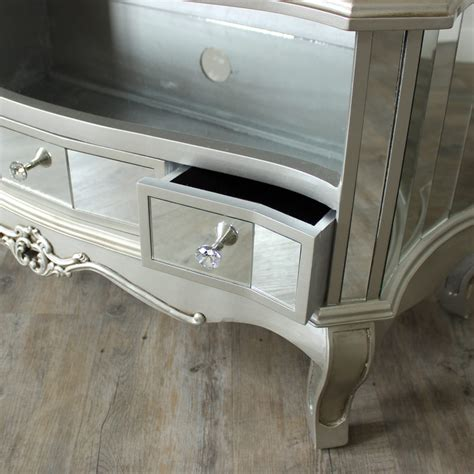 Mirrored Tv Cabinet Living Room Furniture by Mirrored Vintage Style Tv Cabinet Unit Shabby Chic