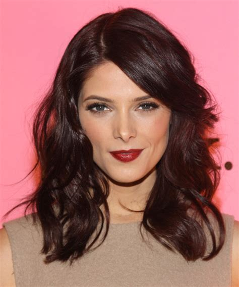 ashley greene medium length hairstyles 2014 straight hair ashley greene medium wavy casual hairstyle with side swept