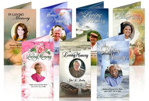 free memorial card templates for mac in loving memory cards funeral program template