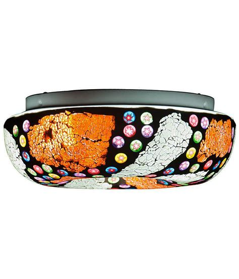 Abode Orange Multi Color Glass Mosaic Ceiling Light Buy Multi Color Ceiling Light