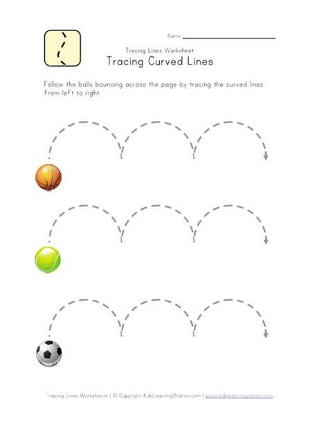 worksheet for preschool lines curved lines worksheet kids learning pinterest
