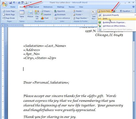 Invitation Letter Using Mail Merge Merging For Dummies Creating Mail Merge Letters In Word 2007 Pluralsight