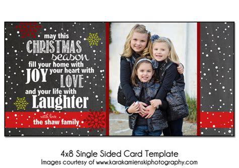 4x8 Photo Cards Templates by Card Template Joyful Snow 4x8 Single Sided Card