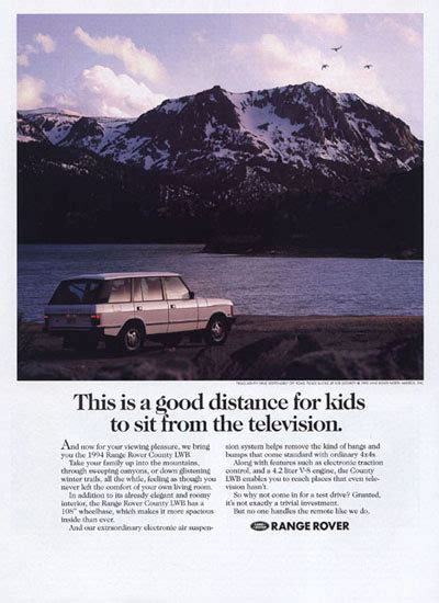 vintage land rover ad 1994 range rover county lwb classic vintage print ad