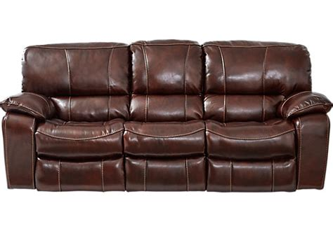 mahogany leather sofa sanderson mahogany leather reclining sofa reclining