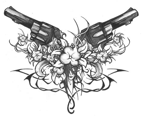 tribal gun tattoos gun tribal designs www pixshark images