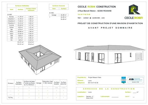 Plan De Maison Avec Patio Central by Maison Avec Patio Central Loire Construction De Maison