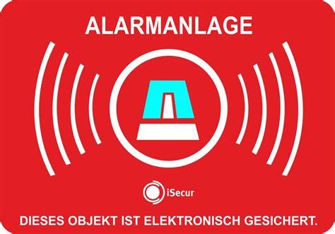 Aufkleber Alarmanlage Wohnmobil by 6 St 252 Ck Isecur Aufkleber Alarmgesichert Alarmanlage