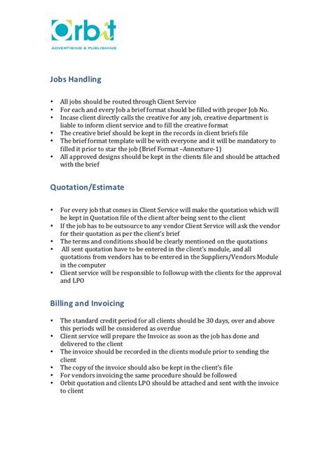 Standard Operating Procedure Customer Service Sop Template