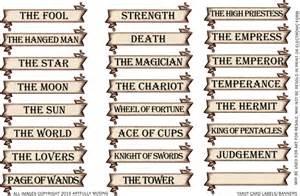 Tarot Card Template by In Tarot Cards New