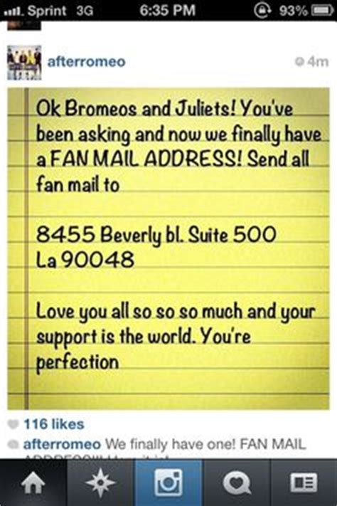 fan mail address 1000 images about after romeo on preppy boys