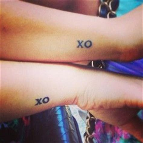 xo tattoo ideas matching tattoos for best friends designs for