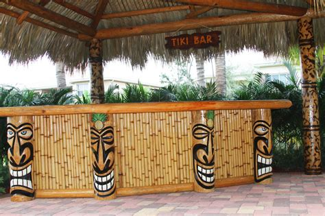 tiki bar top ideas wonderful bamboo tiki bar best home decor ideas build