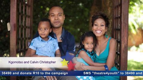kgomotso christopher and husband take a child to the theatre kgomotso and calvin