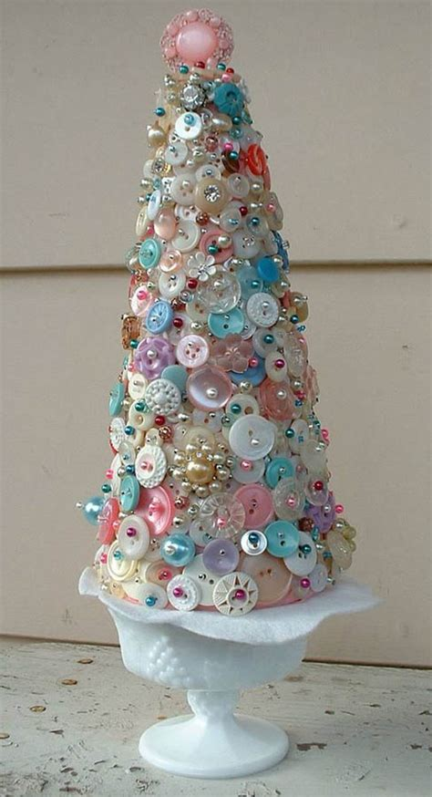 christmas tree idea with buttons crafts ideas crafts