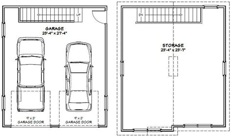 Normal 2 Car Garage Size | normal 2 car garage size average size of detached 2 car