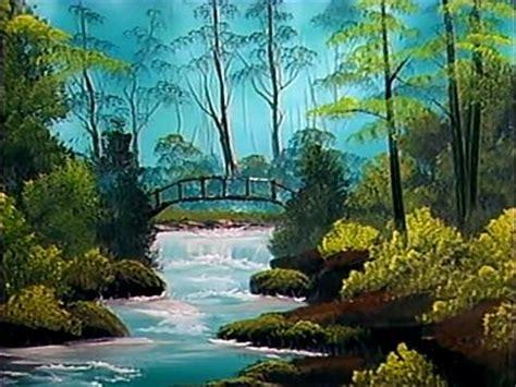 bob ross painting bridge the of painting 10x04 secluded bridge sharetv