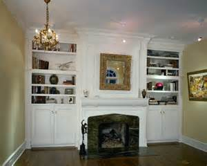 Built In Bookcase Around Fireplace Fireplace Closed Bookcase