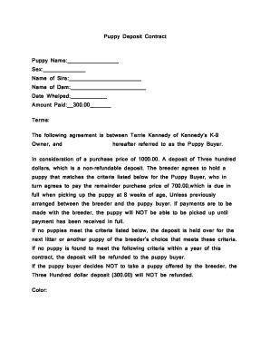 19 Printable Puppy Purchase Contract Forms And Templates Fillable Sles In Pdf Word To Puppy Contract Template
