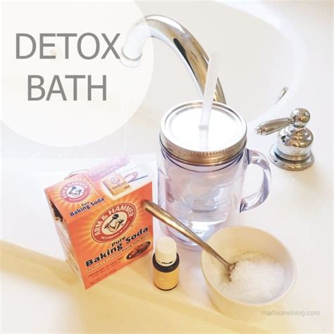 Salt Detox Bath by Epsom Salts Mixed In Water Triggers Osmosis By