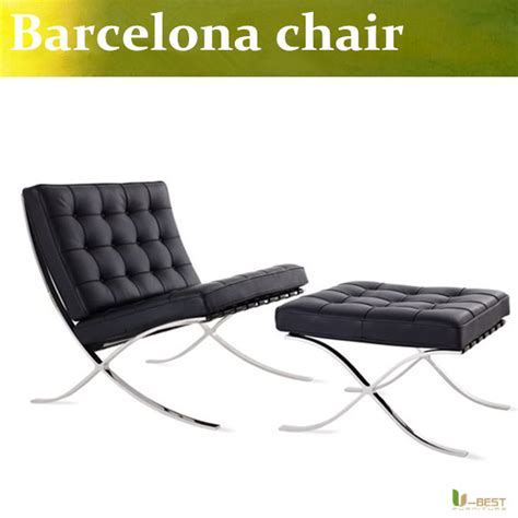 Barcelona Style Modern Pavilion Chair u best high quality barcelona style modern pavilion chair with ottoman real leather with
