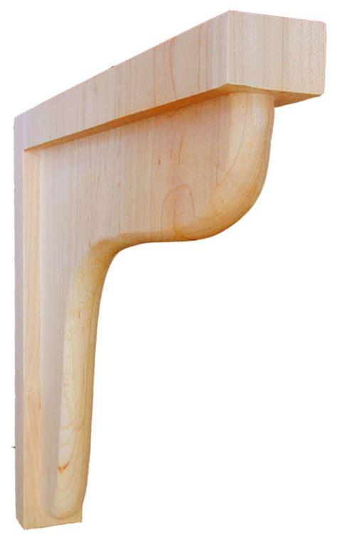 Contemporary Corbels Wilton Wood Bracket Maple Contemporary Corbels