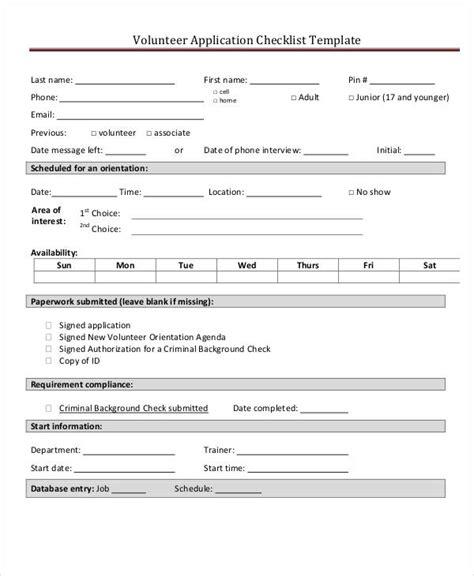 college application checklist template application checklist templates 10 free sles